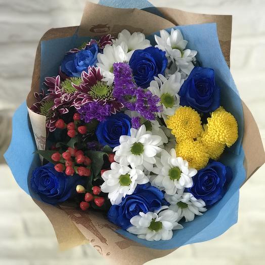 ХИТ S с синими розами