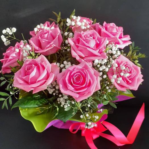 Композиция из розы: букеты цветов на заказ Flowwow