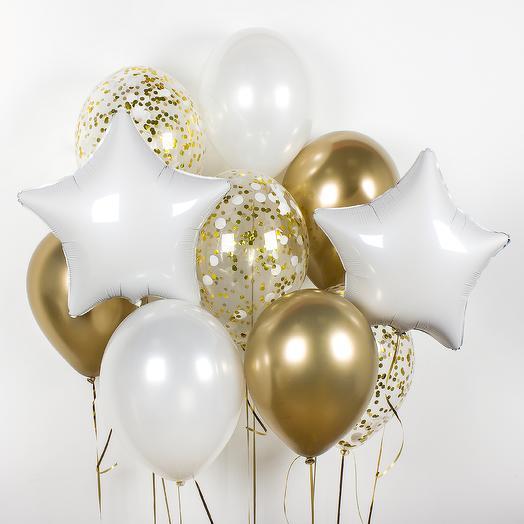 Набор шаров «Золотое сияние»