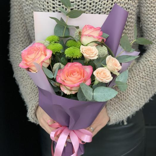 Букет комплимент «лесная фея»: букеты цветов на заказ Flowwow