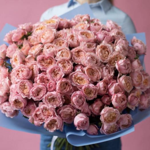 51 пионовидная Роза Джульетта: букеты цветов на заказ Flowwow