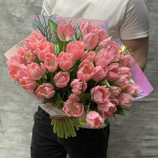 Букет  Тюльпанов Кашарель: букеты цветов на заказ Flowwow