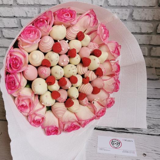 Букет РОЗОВАЯ ПАНТЕРА: букеты цветов на заказ Flowwow