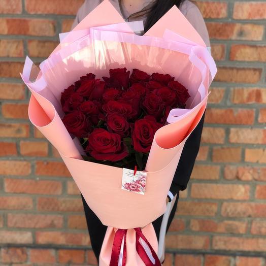 Букет из 21 голландской розы