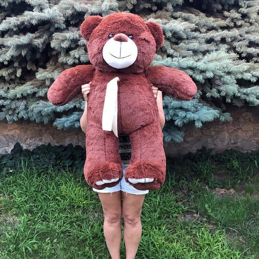 Плюшевий ведмедик 100 см коричневий