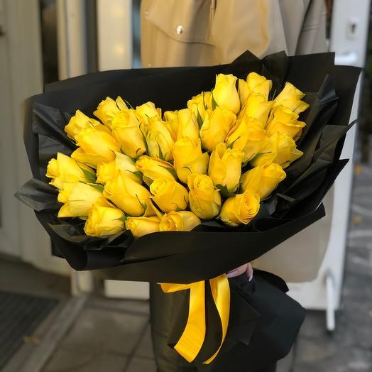 31 Роза в стильной упаковке