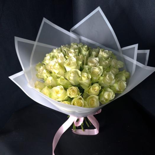 Моно букет из 45 роз