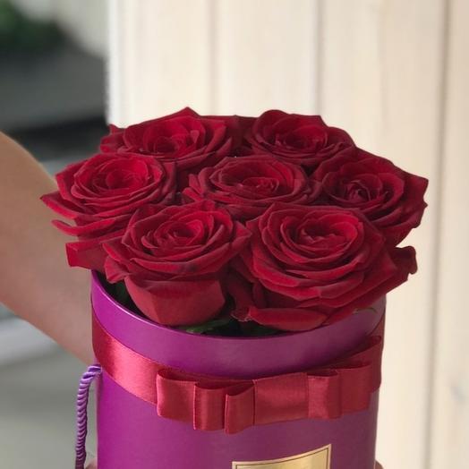 "Цветы в коробке ""бордо"""