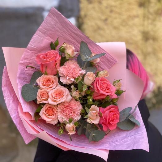 Букет «Розовая Пудра»