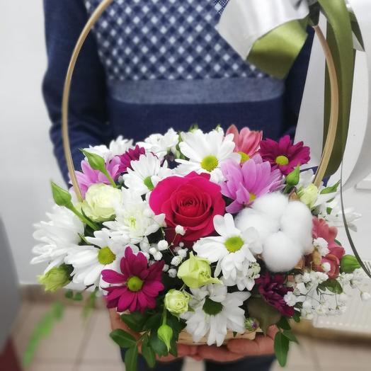 Корзина с цветами «Девочка моя»