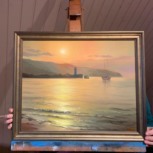 """Painting """" The Bosphorus in the evening»"""