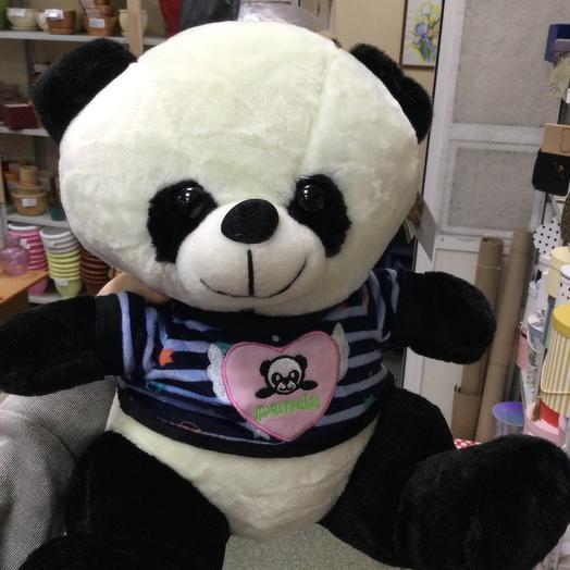 Панда в синей кофте