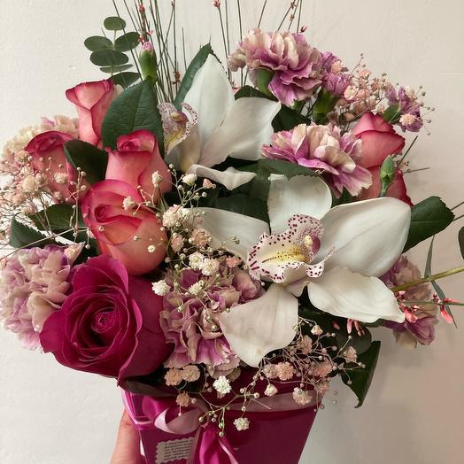 Цветы в коробке  «Для настроения»