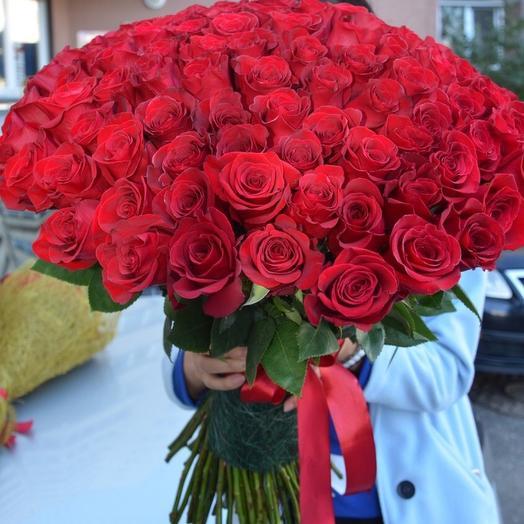 101 Роза красная(Эквадор)