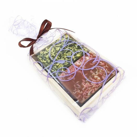 Набор в деревянном лоточке  150  (2 кусочка мыла)
