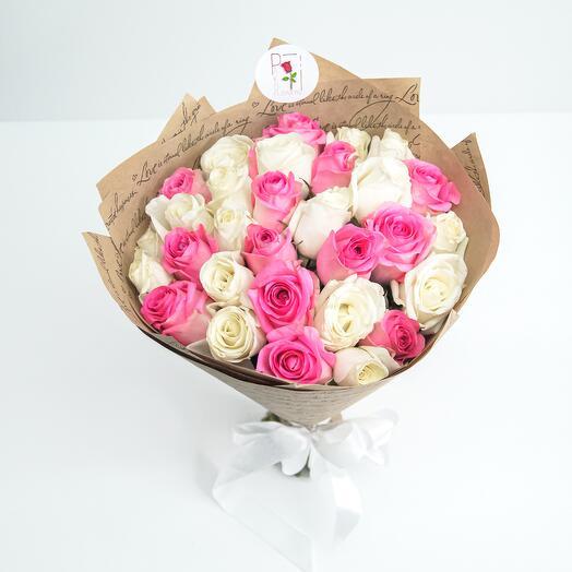 Букет из 31 роз (40см)