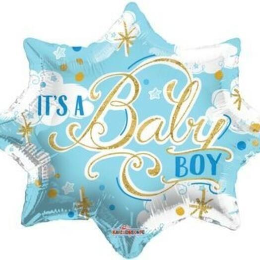 """18""""/45 см фигура звезда it s a baby boy"""