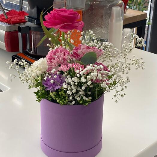 Ранункулюс Цветы в коробке