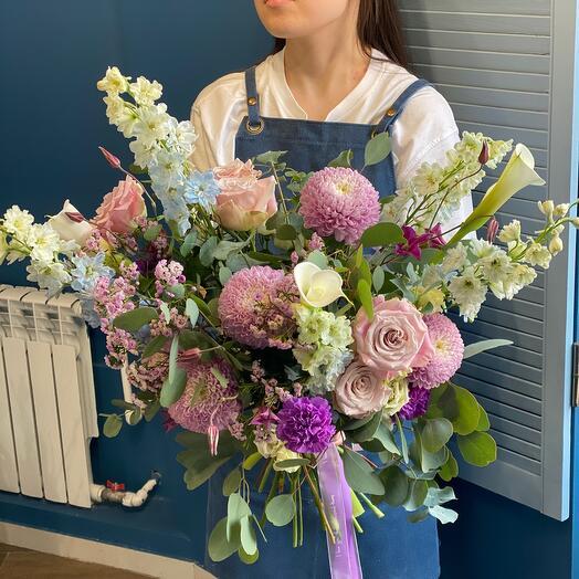 Author's sprawling bouquet