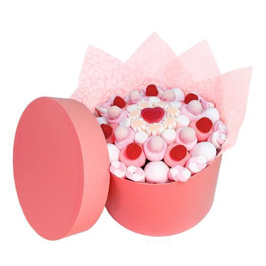 Премиальная коробка «Розовый мрамор»