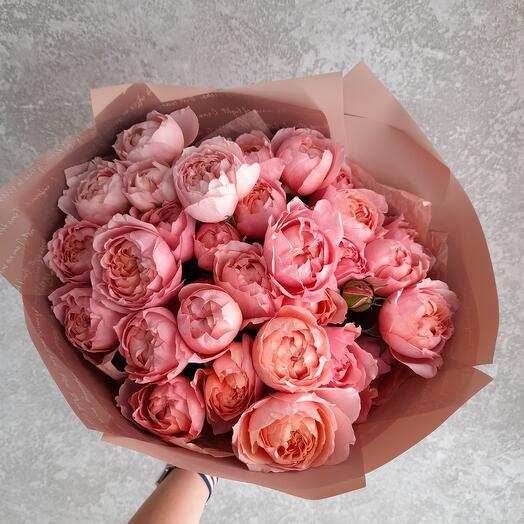Монобукет из пионовидных роз Джульетта
