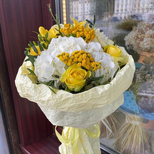 Букетик цветов «Лимонный щербет»