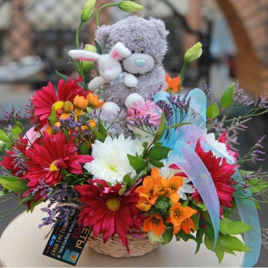 Король Мишка: букеты цветов на заказ Flowwow