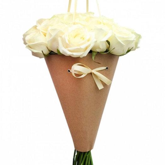 Букет из роз Хрустальные слезы: букеты цветов на заказ Flowwow