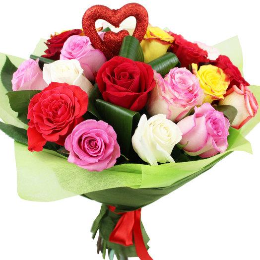 Букет Разноцветная любовь: букеты цветов на заказ Flowwow