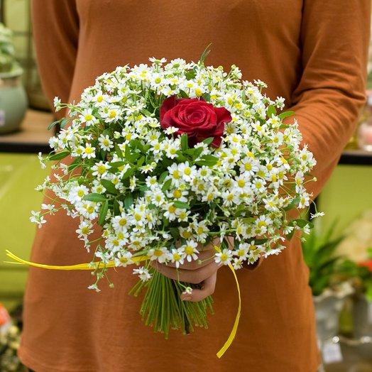 Букет из ромашек Единственной: букеты цветов на заказ Flowwow