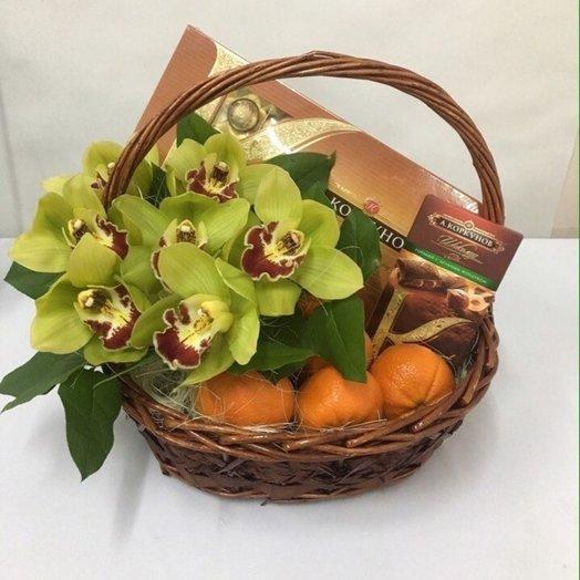 Орхидеи с шоколадом