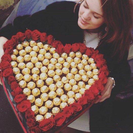 Золотое сердце : букеты цветов на заказ Flowwow