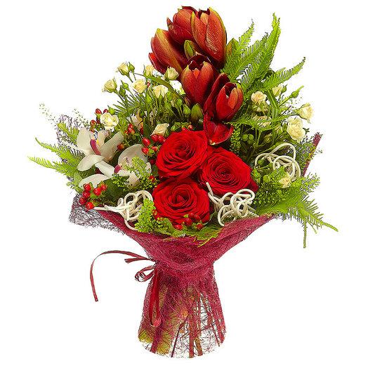 Букет с амарилисами.: букеты цветов на заказ Flowwow