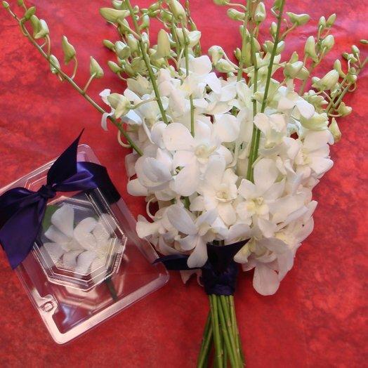 Свадебный набор из орхидеи: букеты цветов на заказ Flowwow