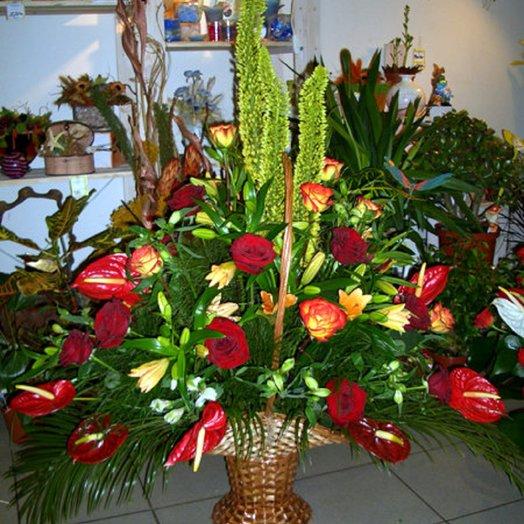 Корзина с экзотикой: букеты цветов на заказ Flowwow