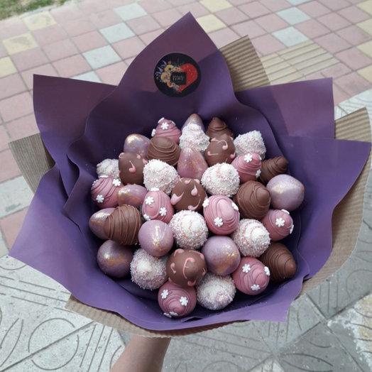 Букет КЛУБНИКА в шоколаде : букеты цветов на заказ Flowwow