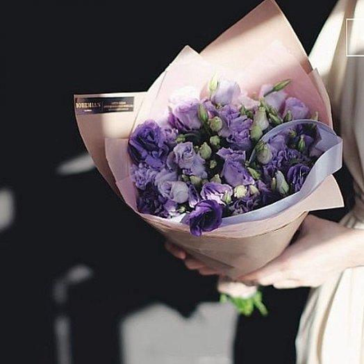 Букет из черничной эустомы: букеты цветов на заказ Flowwow