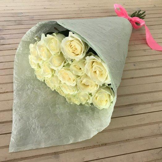 19 роз Аваланж: букеты цветов на заказ Flowwow