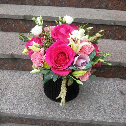 Ночь в Париже: букеты цветов на заказ Flowwow