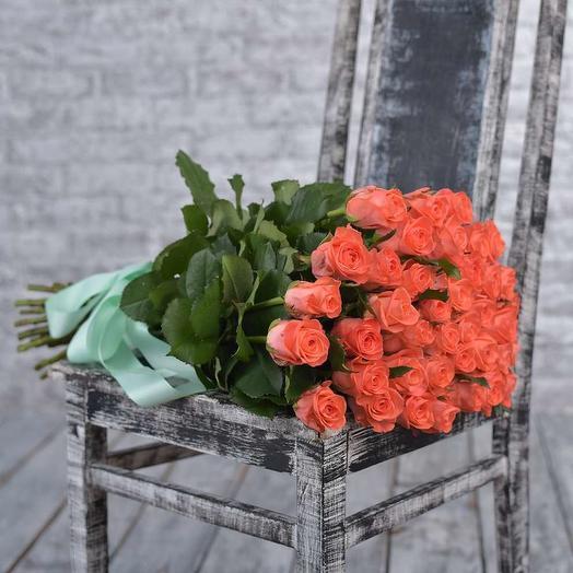 Букет из 35 оранжевых роз: букеты цветов на заказ Flowwow