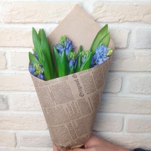 Гиацинты голубые: букеты цветов на заказ Flowwow