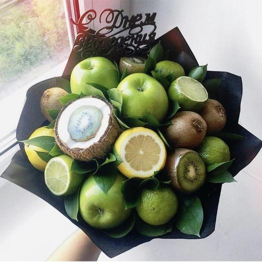 Фруктовый букет «Дача»: букеты цветов на заказ Flowwow
