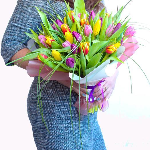 Стрелы любви - 35 тюльпанов: букеты цветов на заказ Flowwow