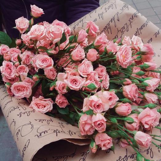 "Букет  ""Письмо"" из куст. роз: букеты цветов на заказ Flowwow"