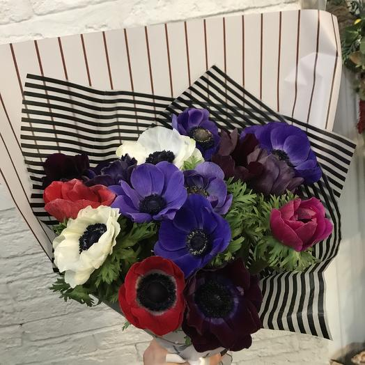 Необыкновенные анемоны по суперценех: букеты цветов на заказ Flowwow