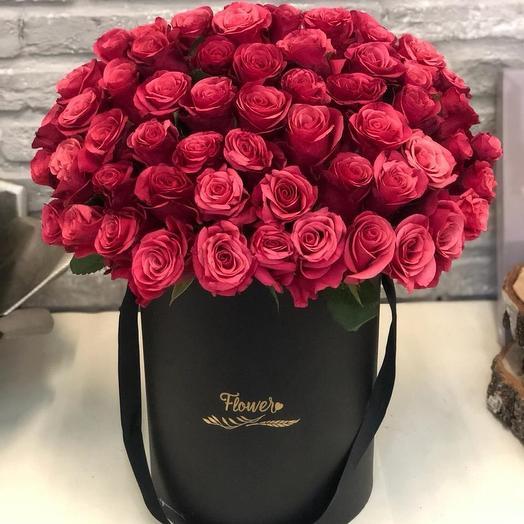 Моно в черной классике: букеты цветов на заказ Flowwow