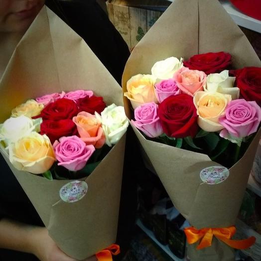 Кулечки с розами: букеты цветов на заказ Flowwow