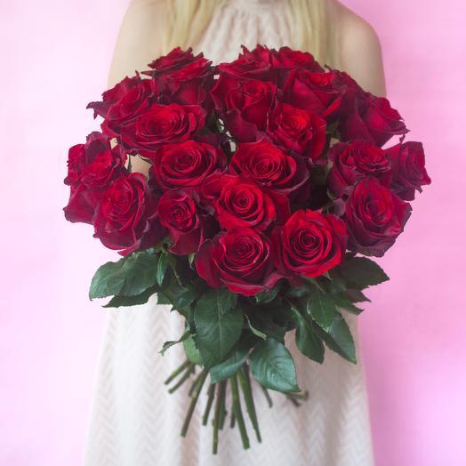 25 роз сорта Explorer: букеты цветов на заказ Flowwow