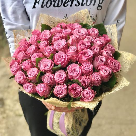 Розы. Букет из 51 розы. N502: букеты цветов на заказ Flowwow