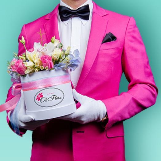 Композиция Яркие эмоции с яркой доставкой: букеты цветов на заказ Flowwow